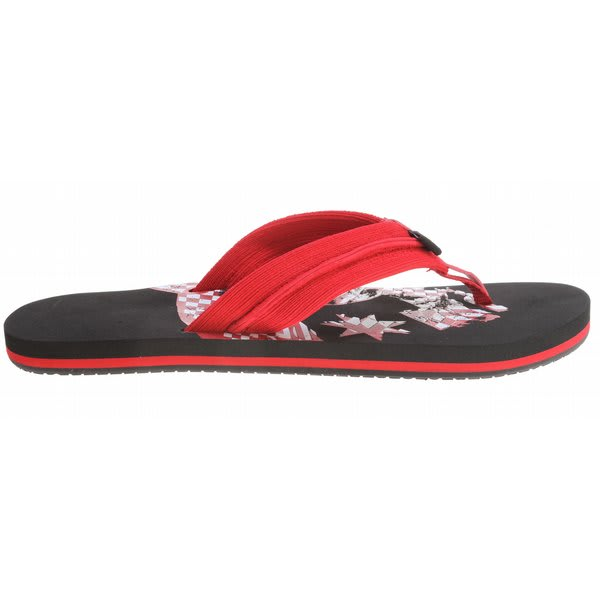 Dc Central Sandals Athletic Red / Black U.S.A. & Canada