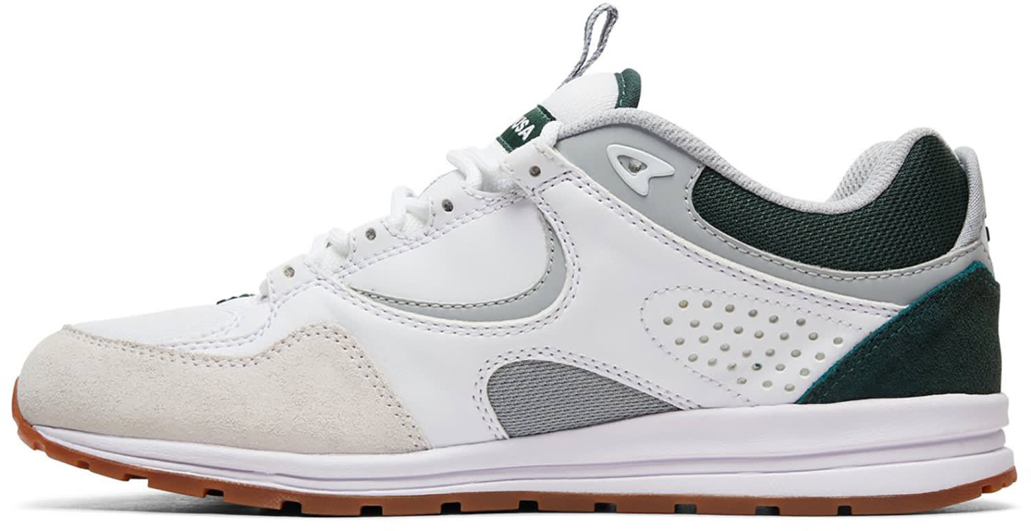 5e1fb4578d DC Men s Kalis Lite Skate Shoe White grey green 11 D M US for sale ...