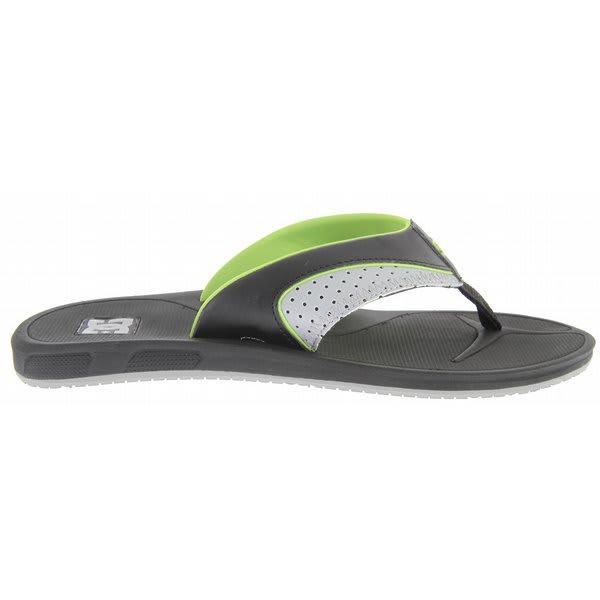 Dc Peru Sandals Black / Lime U.S.A. & Canada