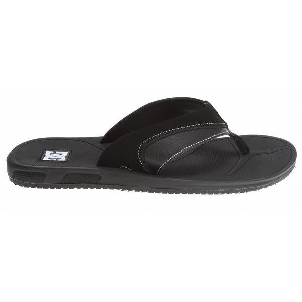 Dc Peru Sandals Black / White U.S.A. & Canada