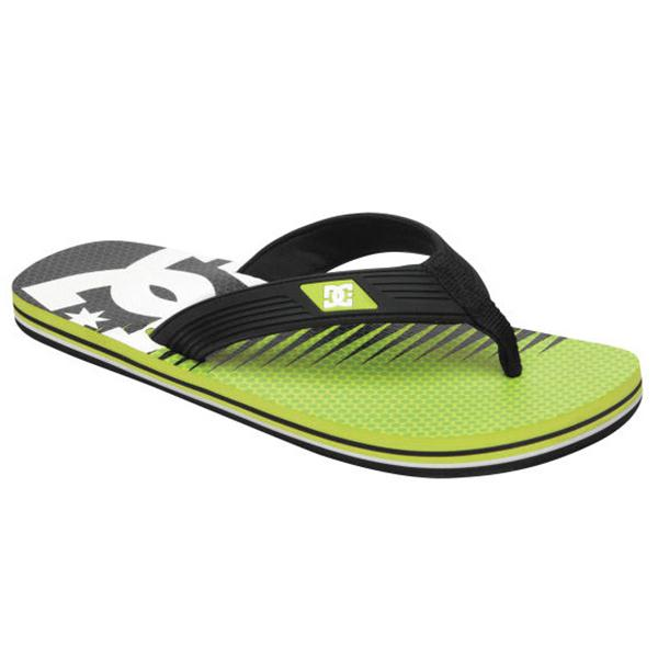 Dc Snap Graffik Sandals Black / Soft Lime Print U.S.A. & Canada