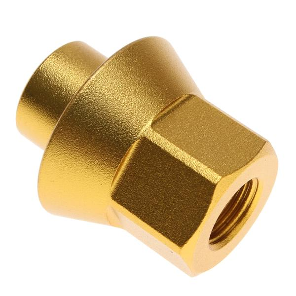 "Eastern 3 / 8"" W / 14Mm Long Tip Axel Nuts Matte Gold U.S.A. & Canada"