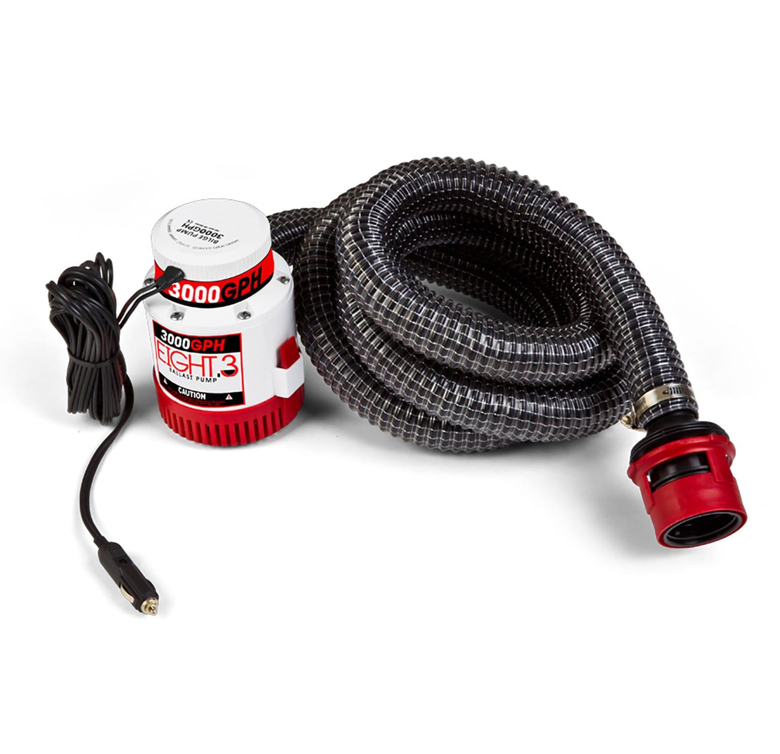 Image of Eight.3 Sub Pump 3000GPH 12V 12AMP Fuse Ballast Pump