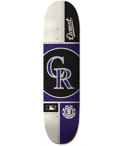 Element MLB Colorado Rockies Circle Skateboard Deck