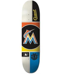 Element MLB Miami Marlins Circle Skateboard Deck