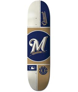 Element MLB Milwaukee Brewers Circle Skateboard Deck