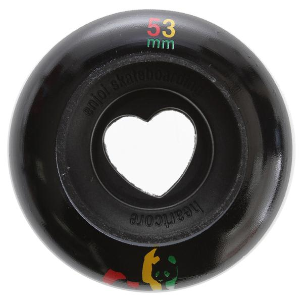 Enjoi Rasta Panda Hollowcore Skateboard Wheels Black 53Mm U.S.A. & Canada