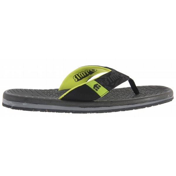 Etnies Dume Sandals Black / Lime U.S.A. & Canada