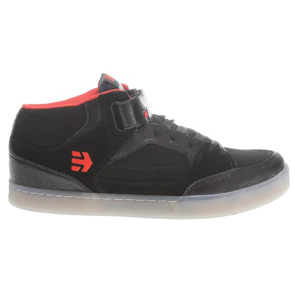 Etnies Number Mid Bmx Shoes Black / Black / Red U.S.A. & Canada