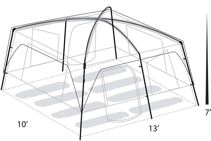 Eureka Copper Canyon 8 Person Tent - thumbnail 2  sc 1 st  The House & On Sale Eureka Copper Canyon 8 Person Tent up to 50% off