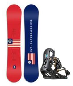 Evol Flag Snowboard w/ Logo Bindings