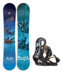 Evol Space Race Snowboard w/ Logo Bindings