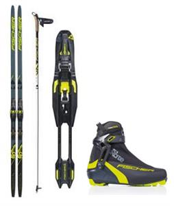 Fischer Aerolite Skate 60 XC Skis + Bindings, Boots & Poles Package