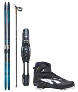 Fischer Fibre Crown IFP XC Skis + Bindings, Boots & Poles Package