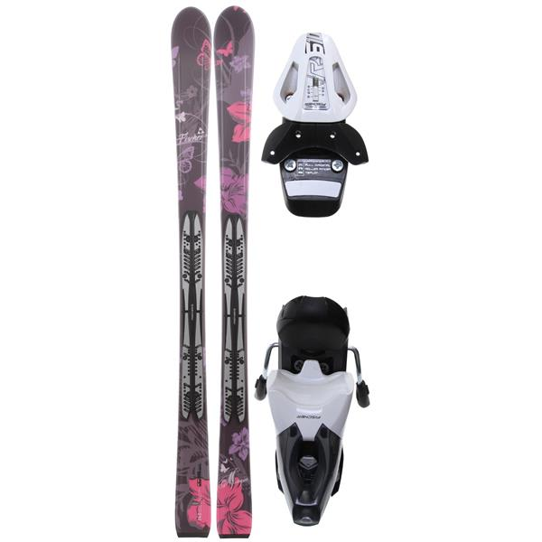 Fischer Mystique Skis W / Fp9 Bindings Black / White U.S.A. & Canada