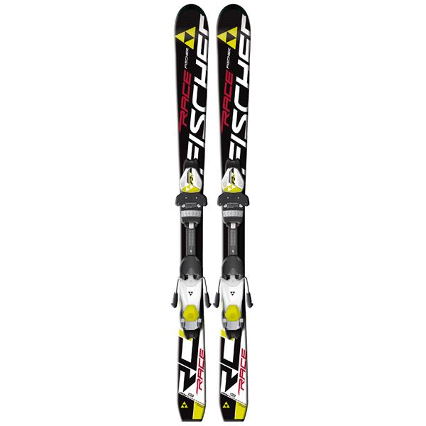 Fischer Rc4 Race Jr Rail Skis W / Fj4 Ac Junior Rail Bindings White / Yellow U.S.A. & Canada