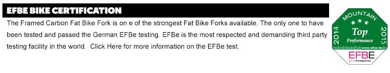 Framed Alaskan Carbon w/ Carbon Fork Fat Bike framed-carbon-carbon-build