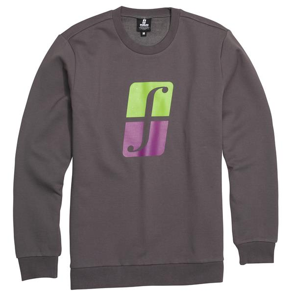 Forum Corp Icon Crew Sweatshirt Charcoal Grey U.S.A. & Canada