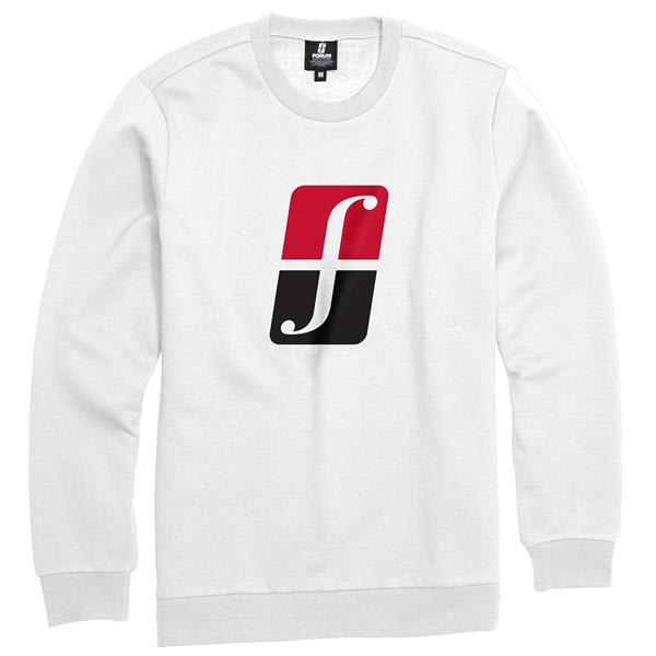 Forum Corp Icon Crew Sweatshirt Yayo White U.S.A. & Canada