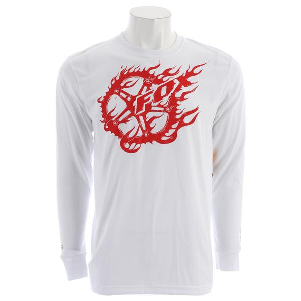 Fox Crank It Dirt L / S Shirt White U.S.A. & Canada