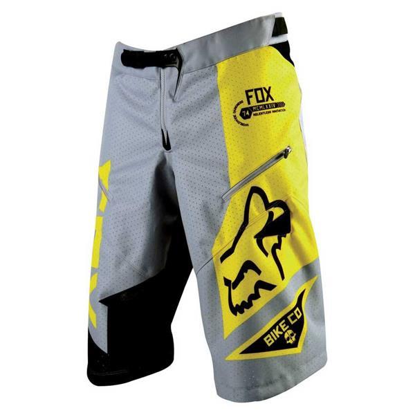 Fox Demo Dh Shorts Grey / Yellow U.S.A. & Canada