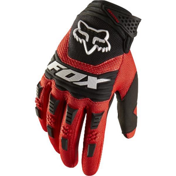 Fox Dirtpaw Bike Gloves Red U.S.A. & Canada