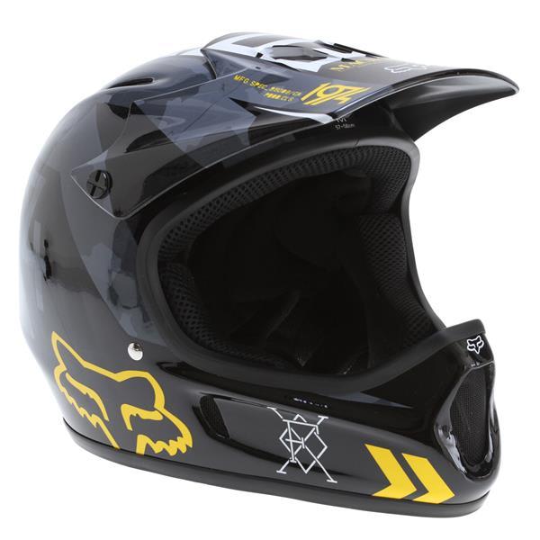 Fox Rampage Bike Helmet Black / Yellow U.S.A. & Canada