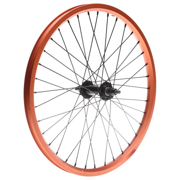 Framed Attack Ltd Front Double Wall Bmx Wheel Orange 3 / 8In U.S.A. & Canada