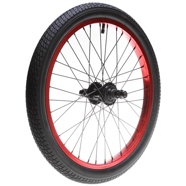 Framed Attack Rear 9T Bmx Wheel Anodized Red 14Mm U.S.A. & Canada