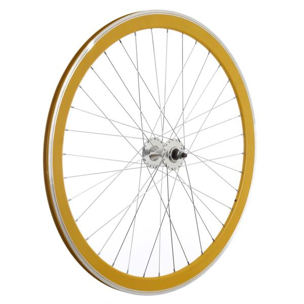 Framed Deep V Front Bike Wheel Yellow 700C U.S.A. & Canada