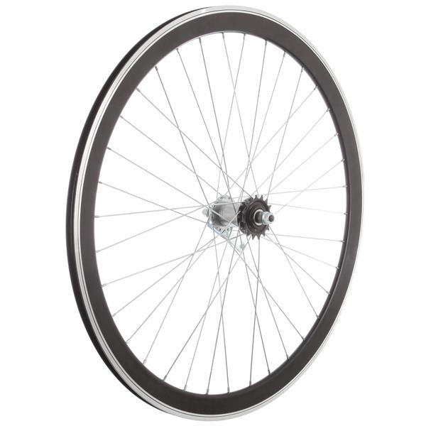 Framed Deep V Rear Bike Wheel Black 700C U.S.A. & Canada