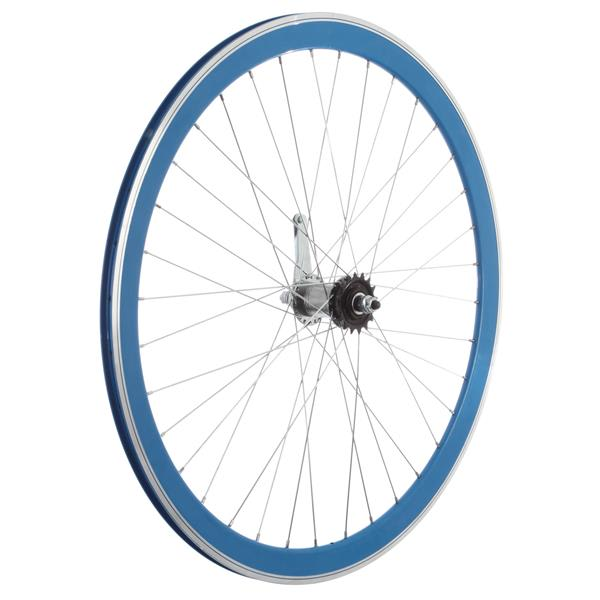 Framed Deep V Rear Bike Wheel Blue 700C U.S.A. & Canada