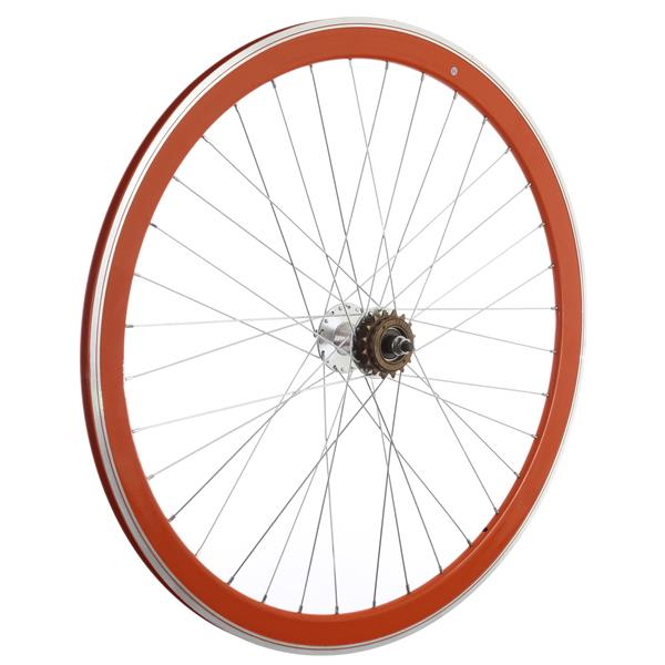 Framed Deep V Rear Bike Wheel Orange 700C U.S.A. & Canada