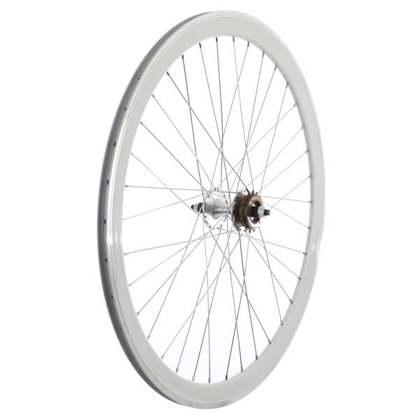 Framed Deep V Rear Bike Wheel White 700C U.S.A. & Canada