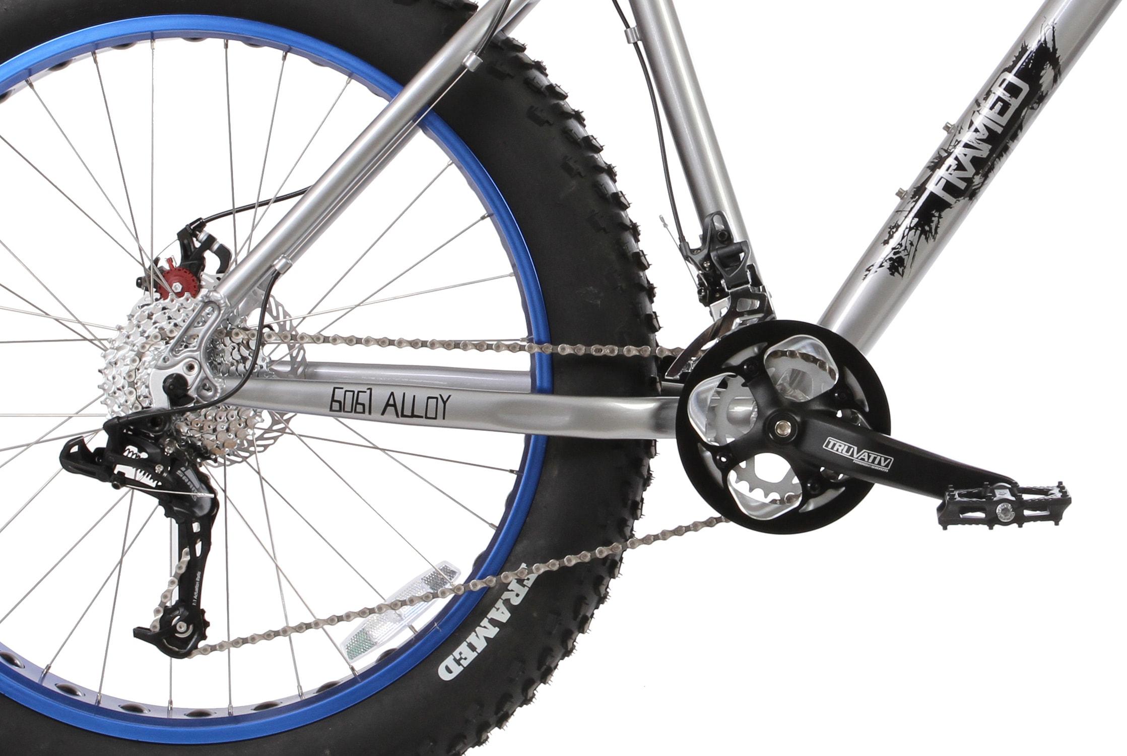 Framed Minnesota 2.0 Fat Bike Silver/blue Sz 16in | eBay