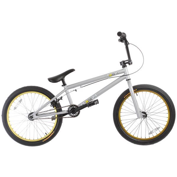 Framed Team Bmx Bike Grey / Yellow 20In U.S.A. & Canada