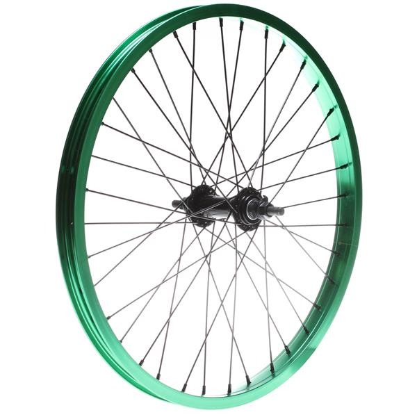 Framed Team Front Bmx Wheel Green 3 / 8In U.S.A. & Canada