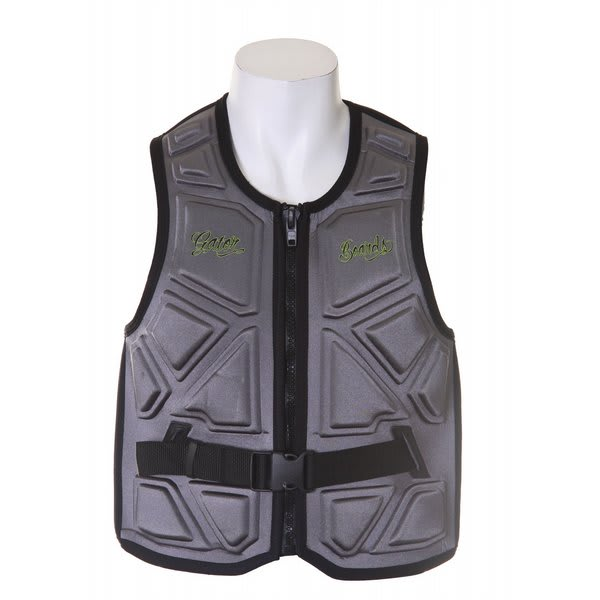 Gator Boards Impact Combat Comp Wakeboard Vest Charcoal U.S.A. & Canada