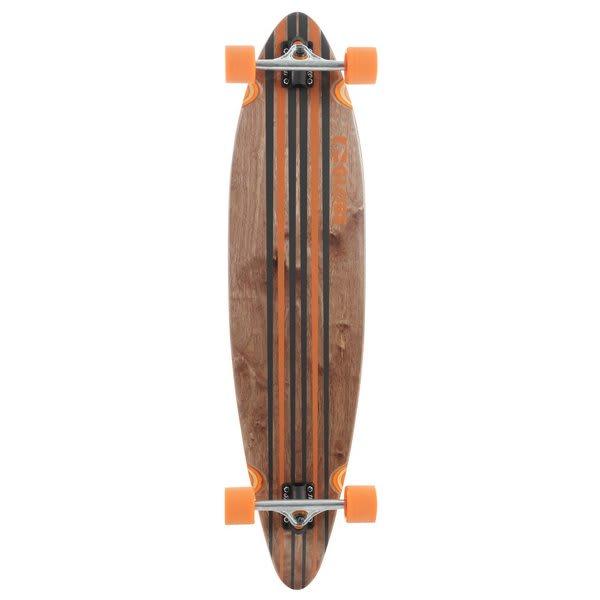 Globe Pinner Longboard Skateboard Complete Black / Orange U.S.A. & Canada