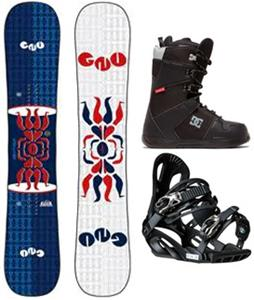 GNU Forest Bailey Head Space Asym Snowboard Package