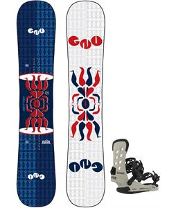 GNU Forest Bailey Head Space Asym Snowboard w/ Union STR Bindings