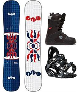 GNU Forest Bailey Head Space Asym Wide Snowboard Package