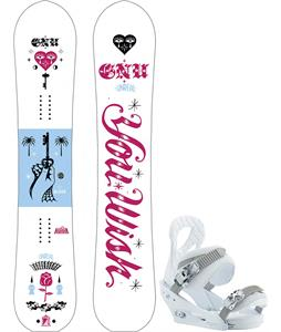 GNU Gloss Snowboard w/ Burton Stiletto Bindings