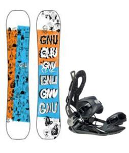 GNU Money Snowboard w/ Cheeter Bindings
