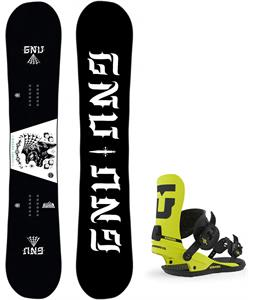 GNU Riders Choice Asym Snowboard w/ Union Strata Bindings