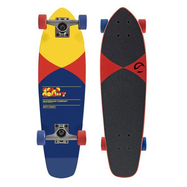 Gold Coast Pier Longboard Skateboard Complete Red U.S.A. & Canada