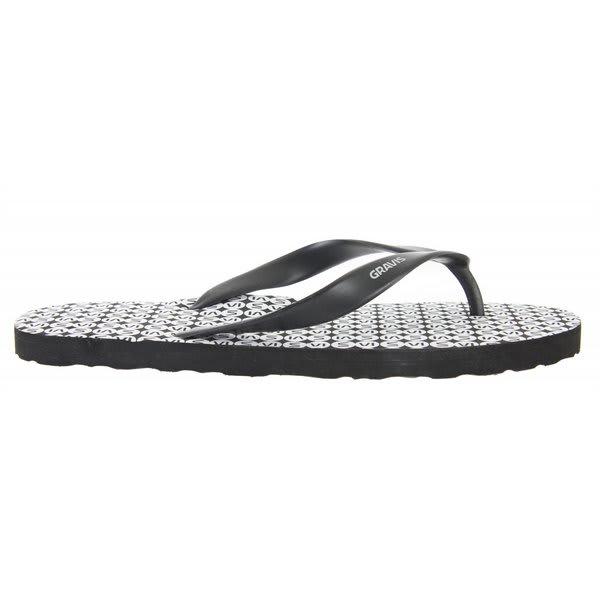 Gravis A Bah Sandals Black White U.S.A. & Canada