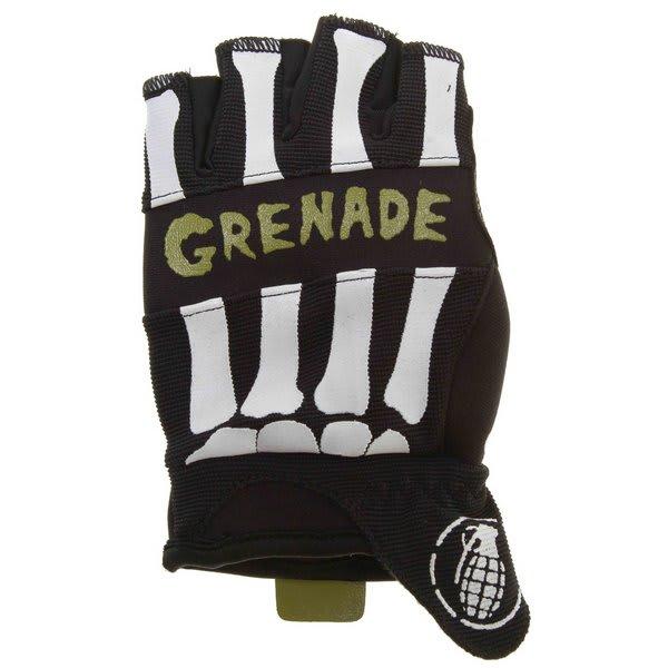 Grenade Bender Fingerless Bike Gloves Black / Lime U.S.A. & Canada