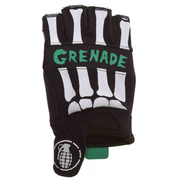 Grenade Bender Fingerless Bike Gloves Black / Teal U.S.A. & Canada