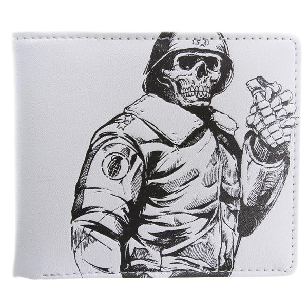 Grenade Leather Wallet White U.S.A. & Canada